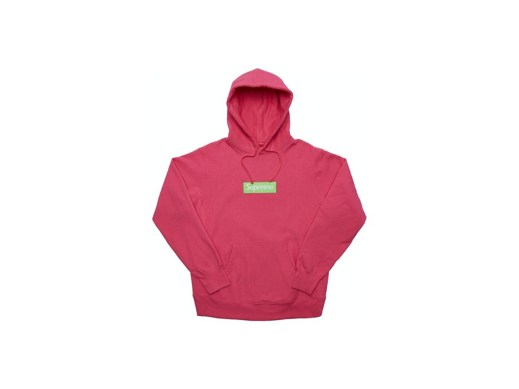 Supreme Box Logo Hooded Sweatshirt Magenta FW17