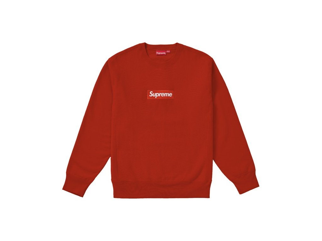 Supreme Box Logo Crewneck FW18 Rust