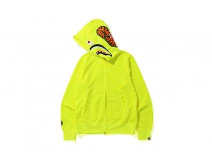 BAPE Neon Shark Full Zip Hoodie Yellow