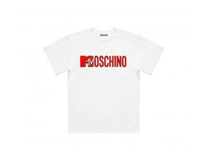 moschino tv hm t shirt white mtv