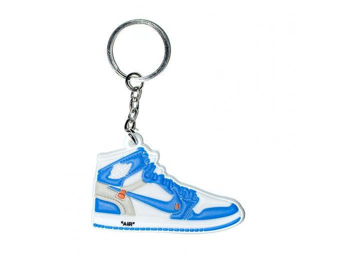 air jordan 1 x off white university blue silicone keychain