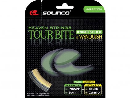 Výplet Solinco Tour Bite + Solinco Vanquish 12m