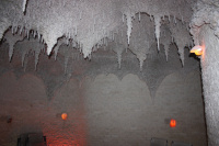 Krápníkový strop solné jeskyně