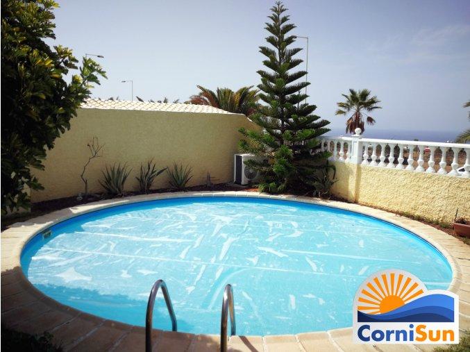 Soláríi plachta Cornisun na kruhový bazen