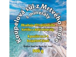 Sůl z Mrtvého moře koupelová 500 g