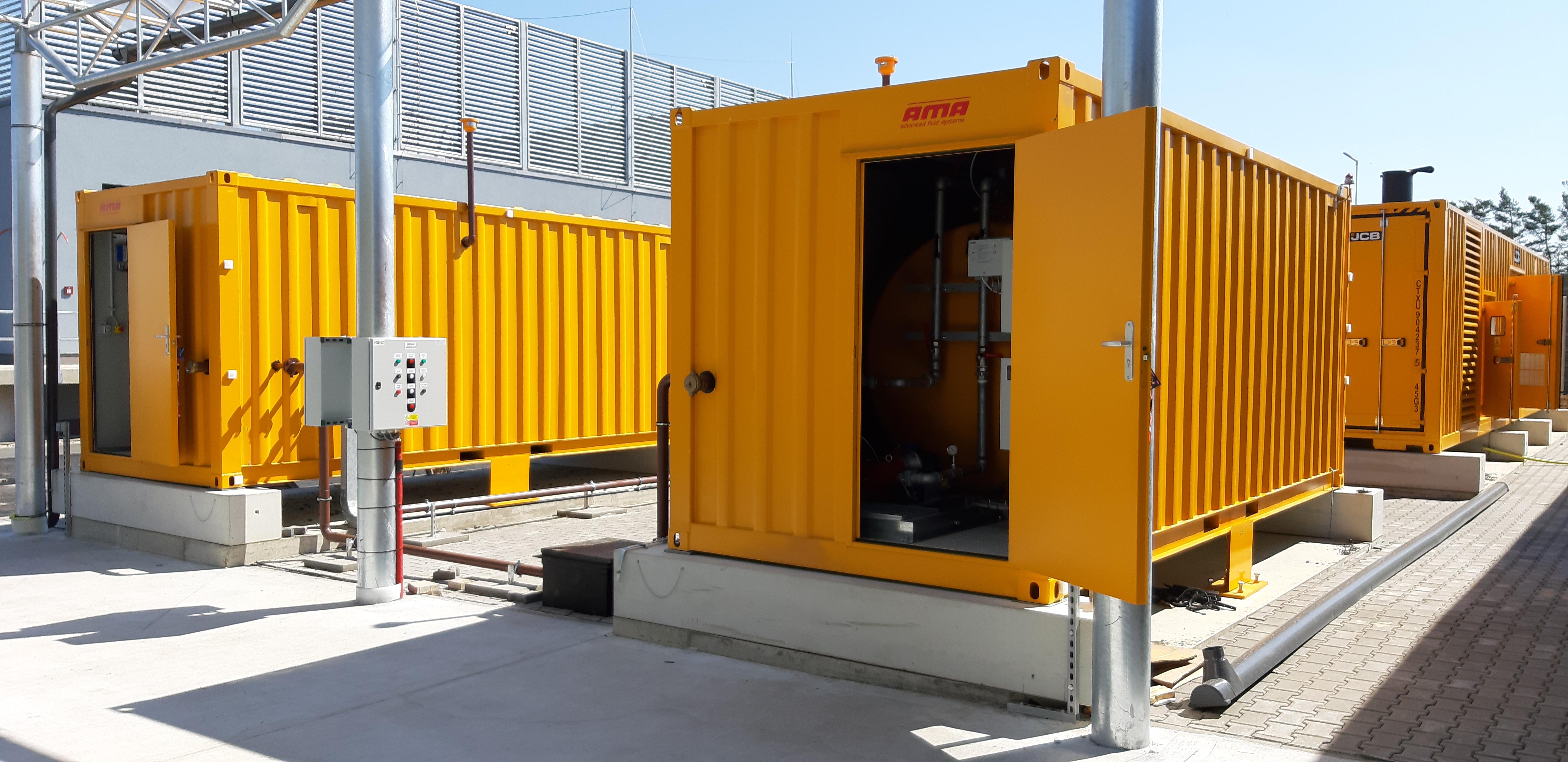 Palivové hospodářství - Datové centrum Zeleneč