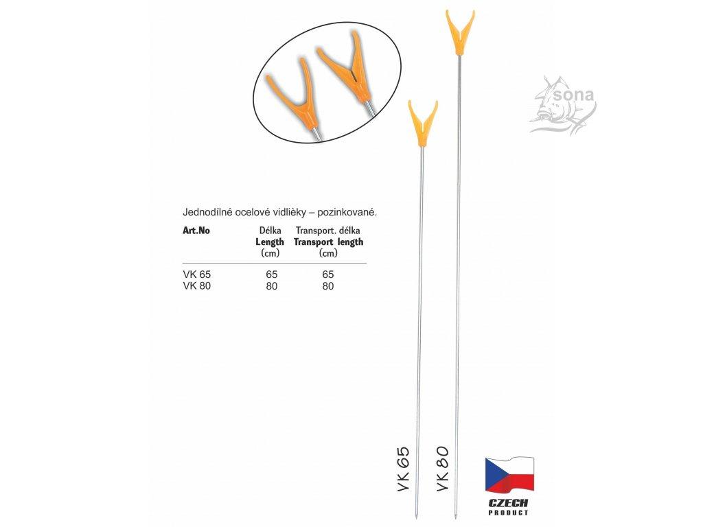 Vidlička jednodílná ocelová VK