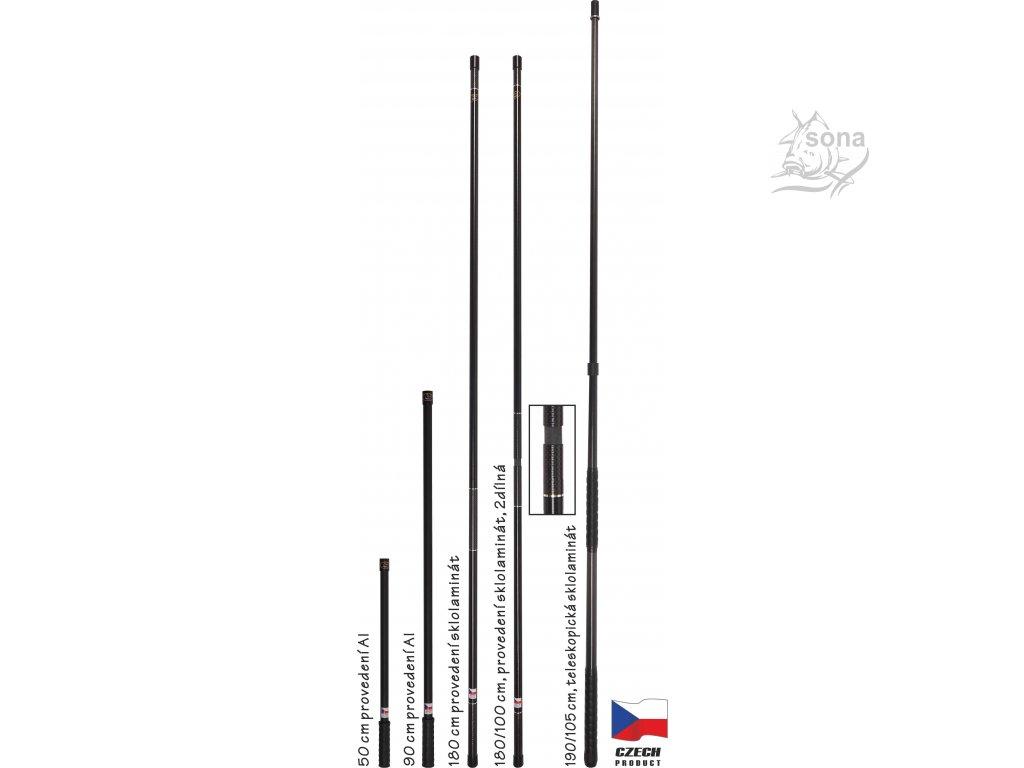 Univerzální tyč - sklo carbonový kompozit
