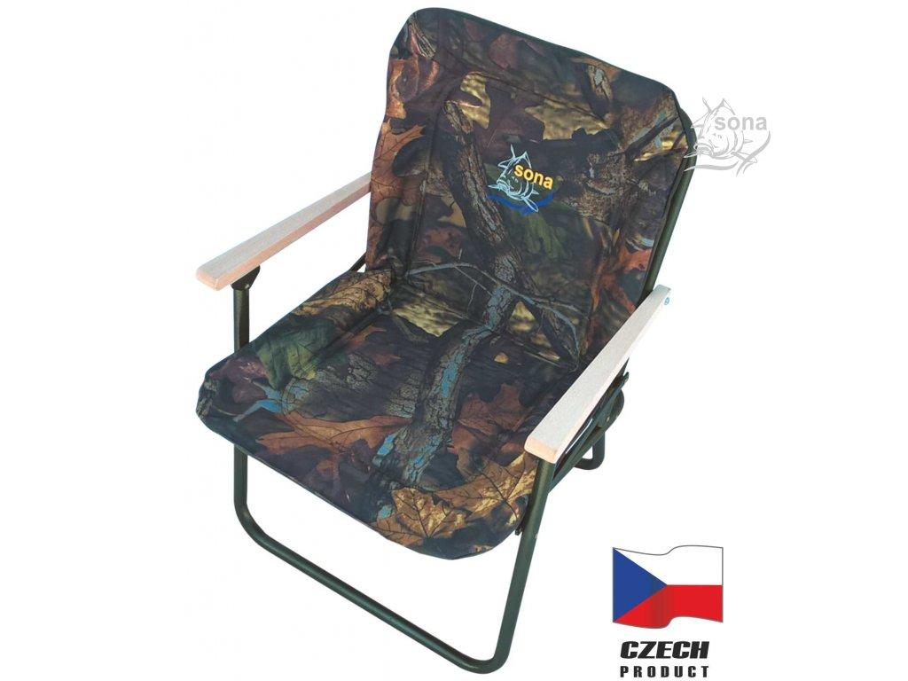 Rybářská sedačka PATRIK JUNIOR WOOD