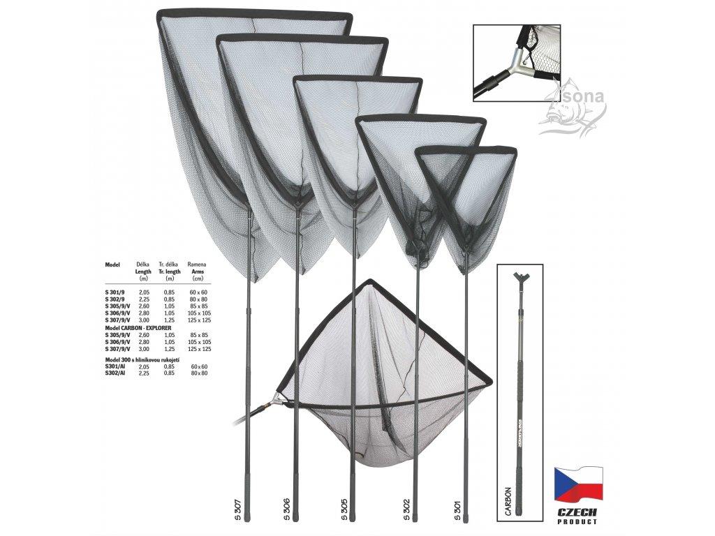 Podběrák model S 300 - AL hliníková rukojeť