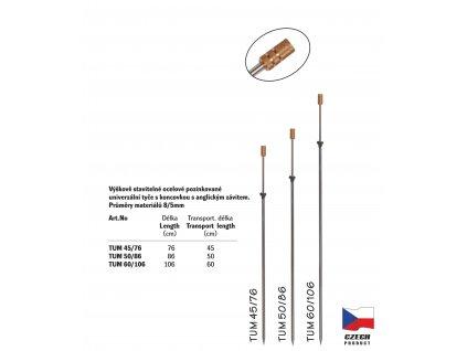 Teleskopická univerzální tyč - TUM