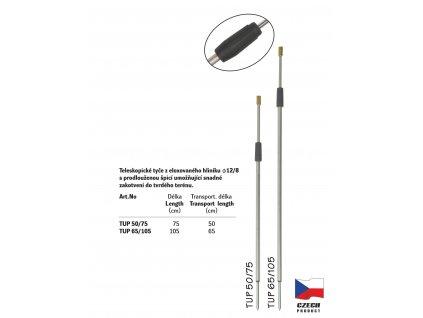 Teleskopická univerzální tyč s prodlouženou špicí - TUP