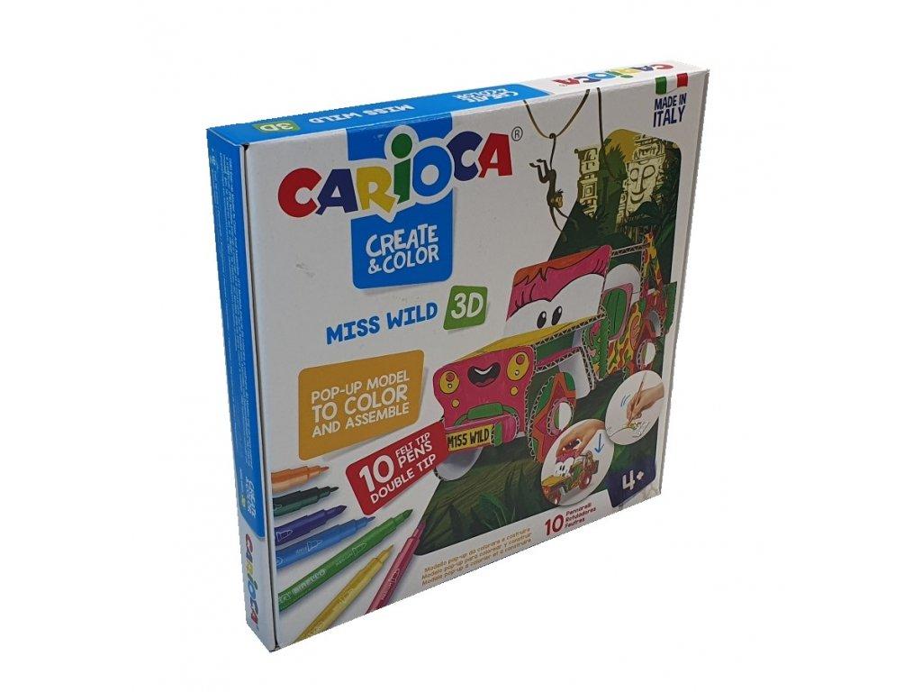 Kreativní sada CARIOCA Pop-Up, auto