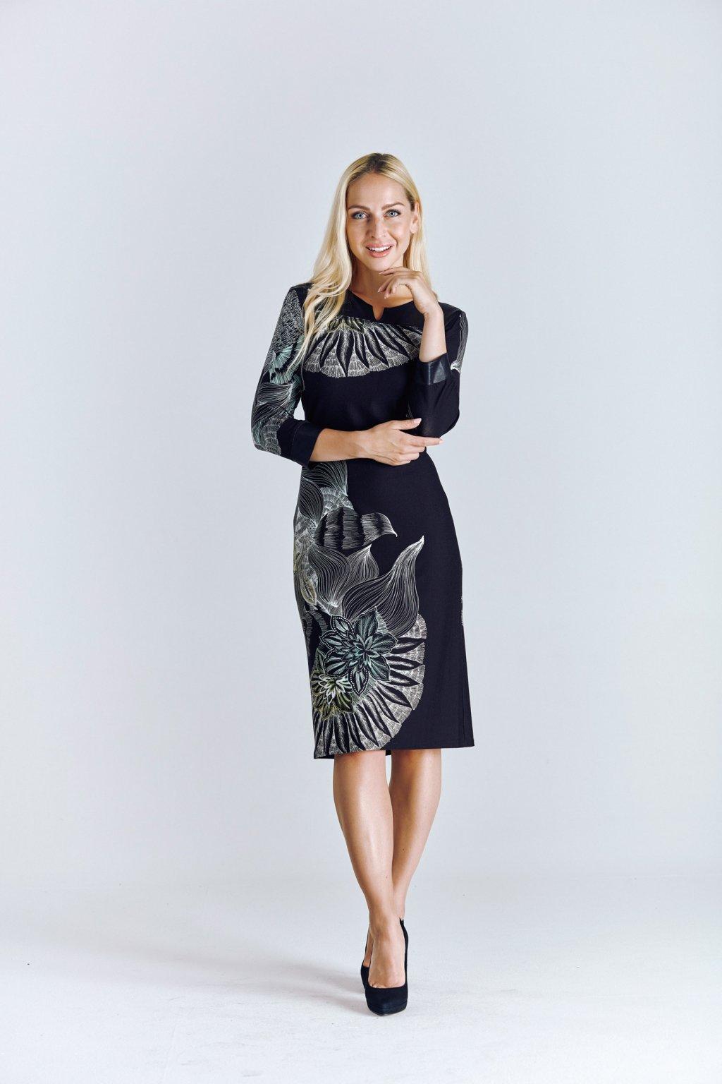 dámské šaty s koženkou