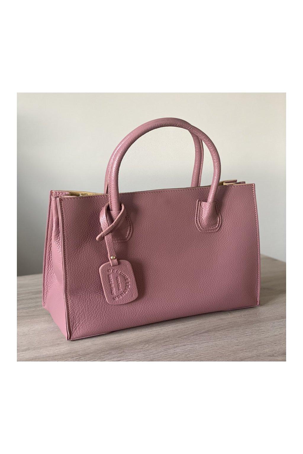 Dámská elegantní kožená kabelka