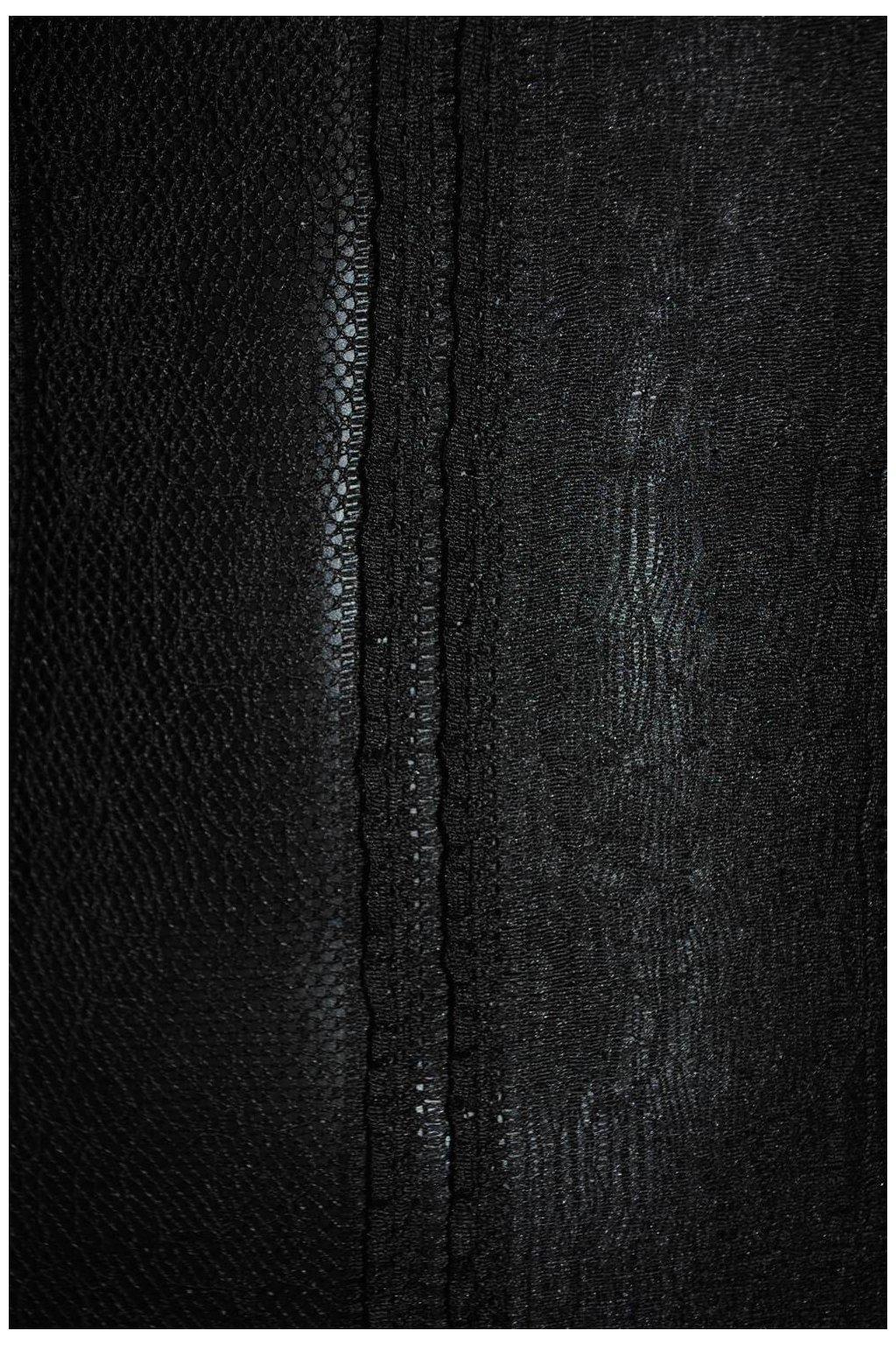 Krajka černá s volánky
