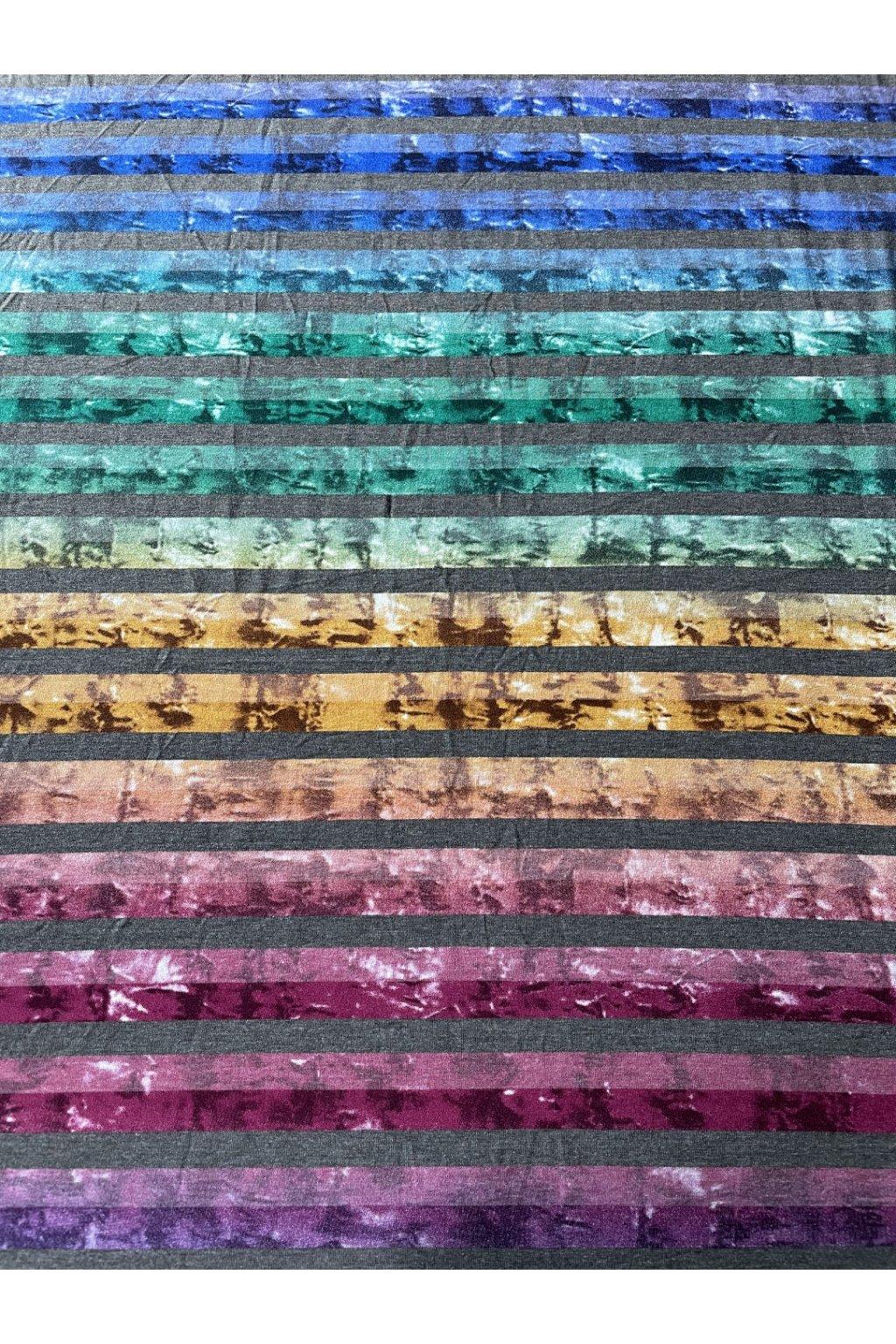 elastický úplet metráž batika