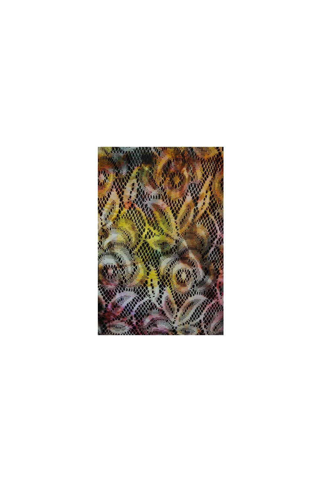 Krajka batikovaná růžová