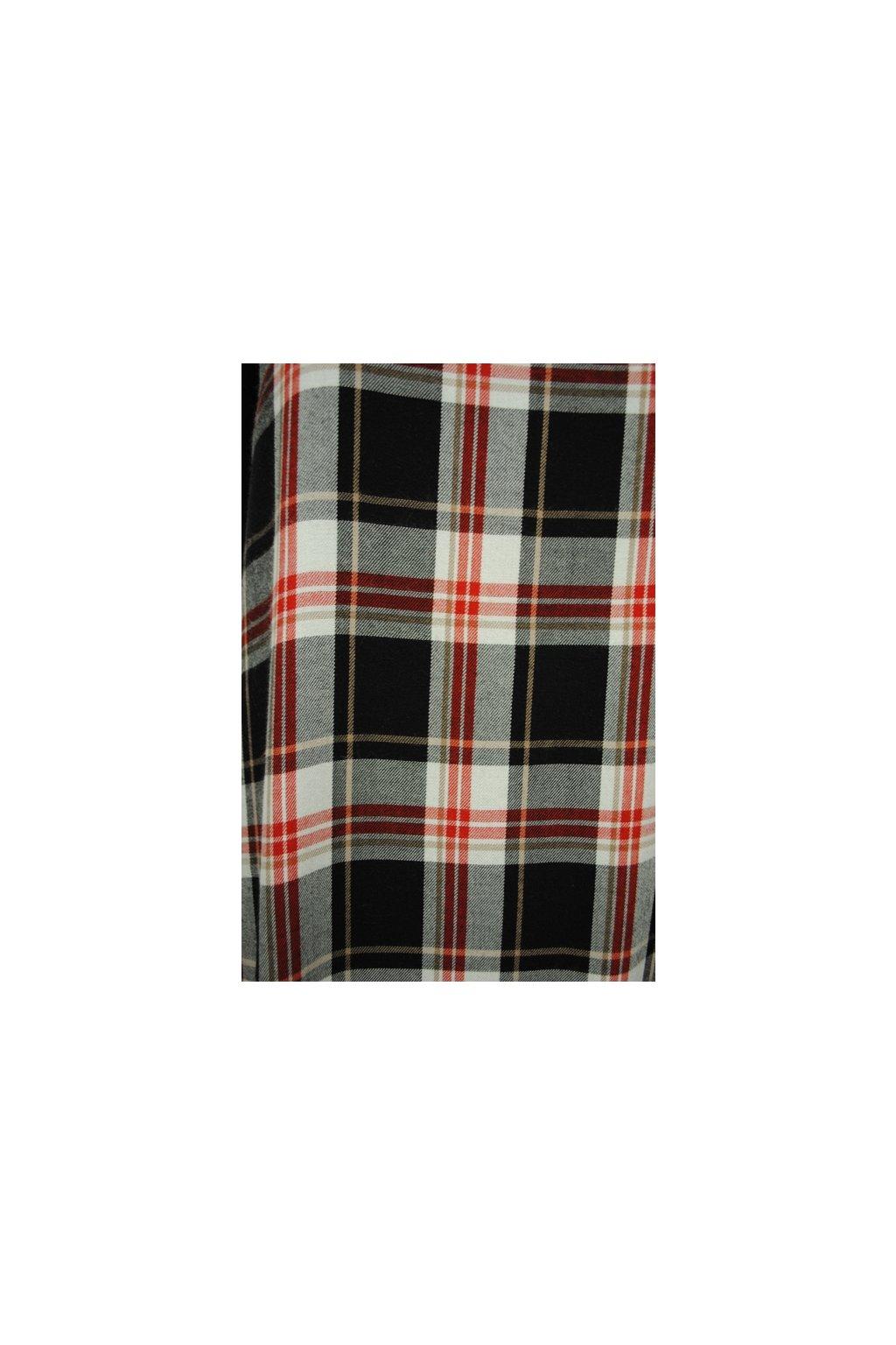 Viskózová tkanina káro červeno-černé