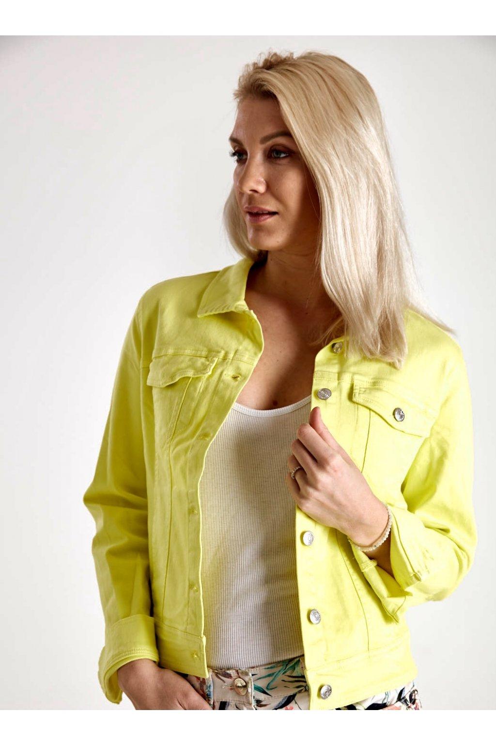 Dámská riflová bunda neon