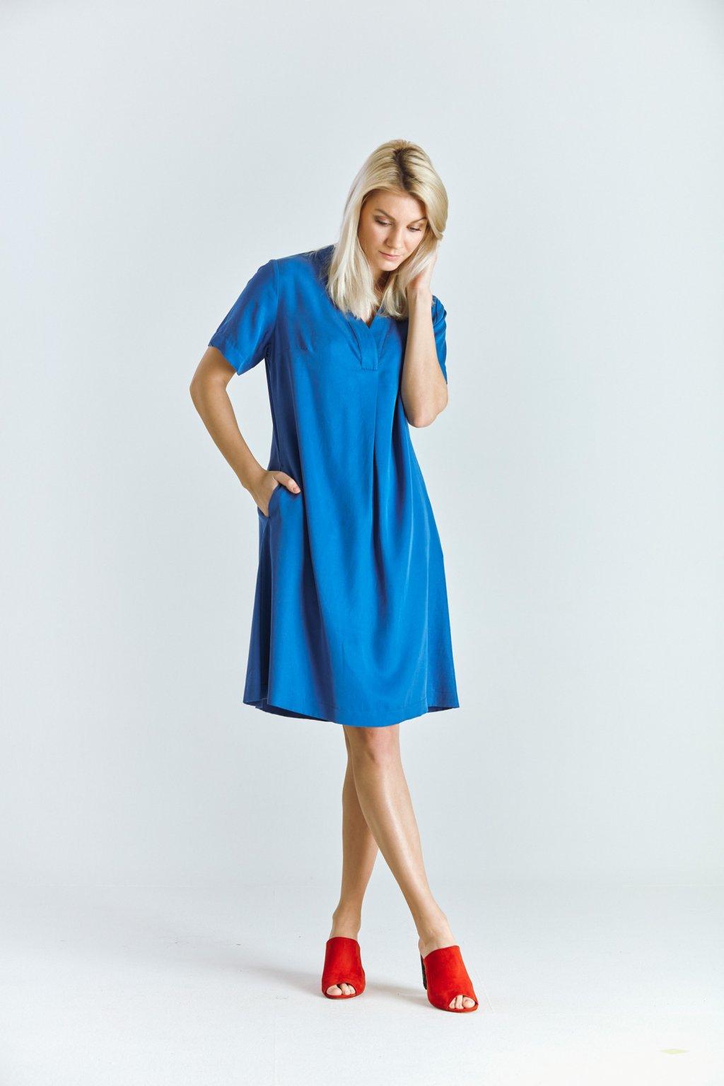 Dámské šaty áčkové sv.modré