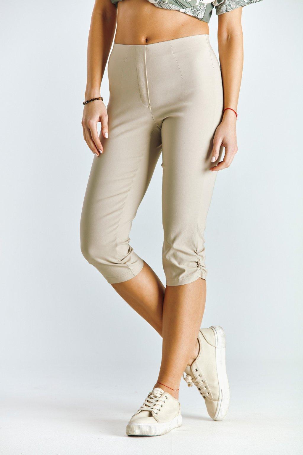 Dámské capri kalhoty béžové