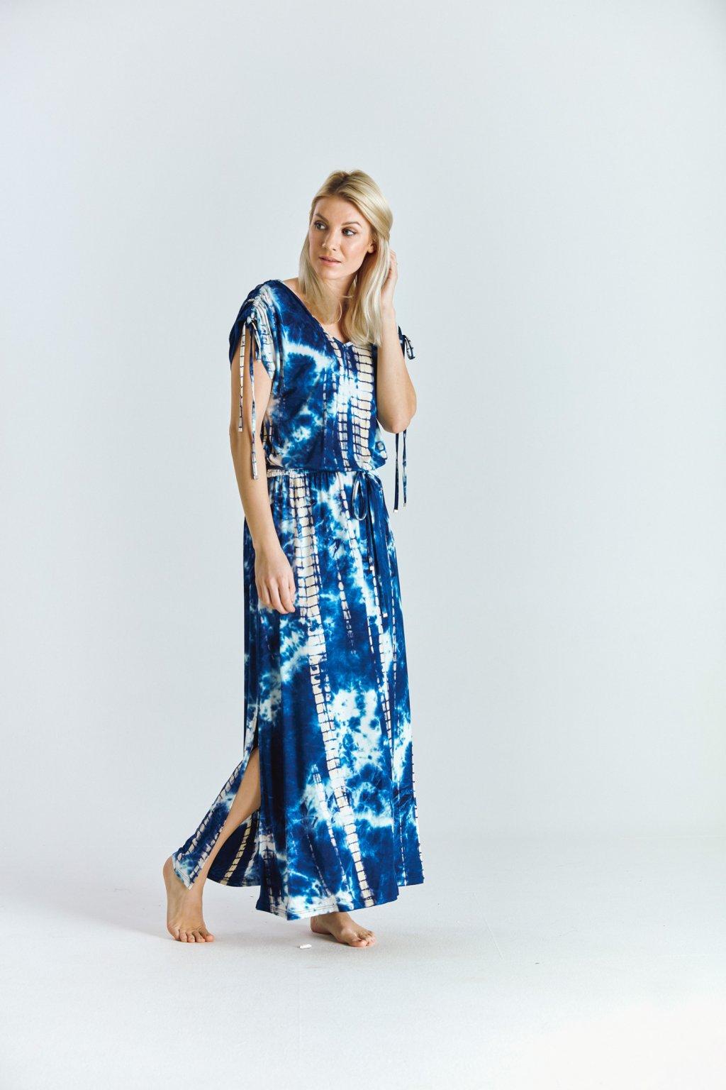 Dámské boho šaty batika modrá