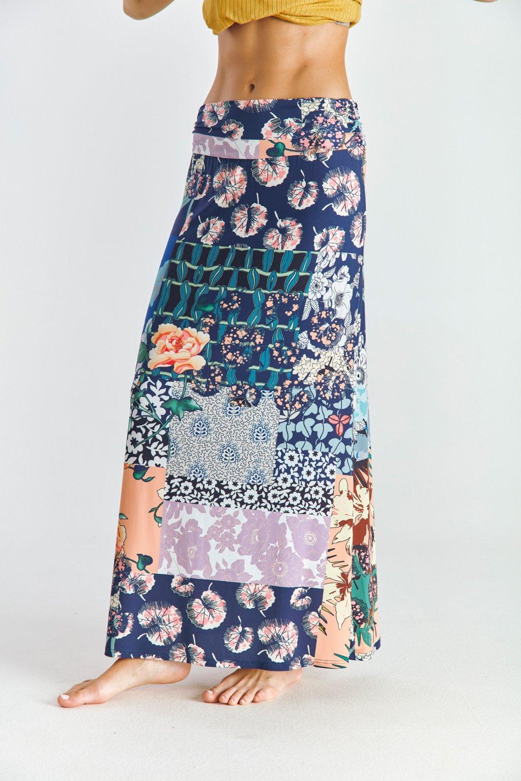 Dámská sukně dlouhá patchwork