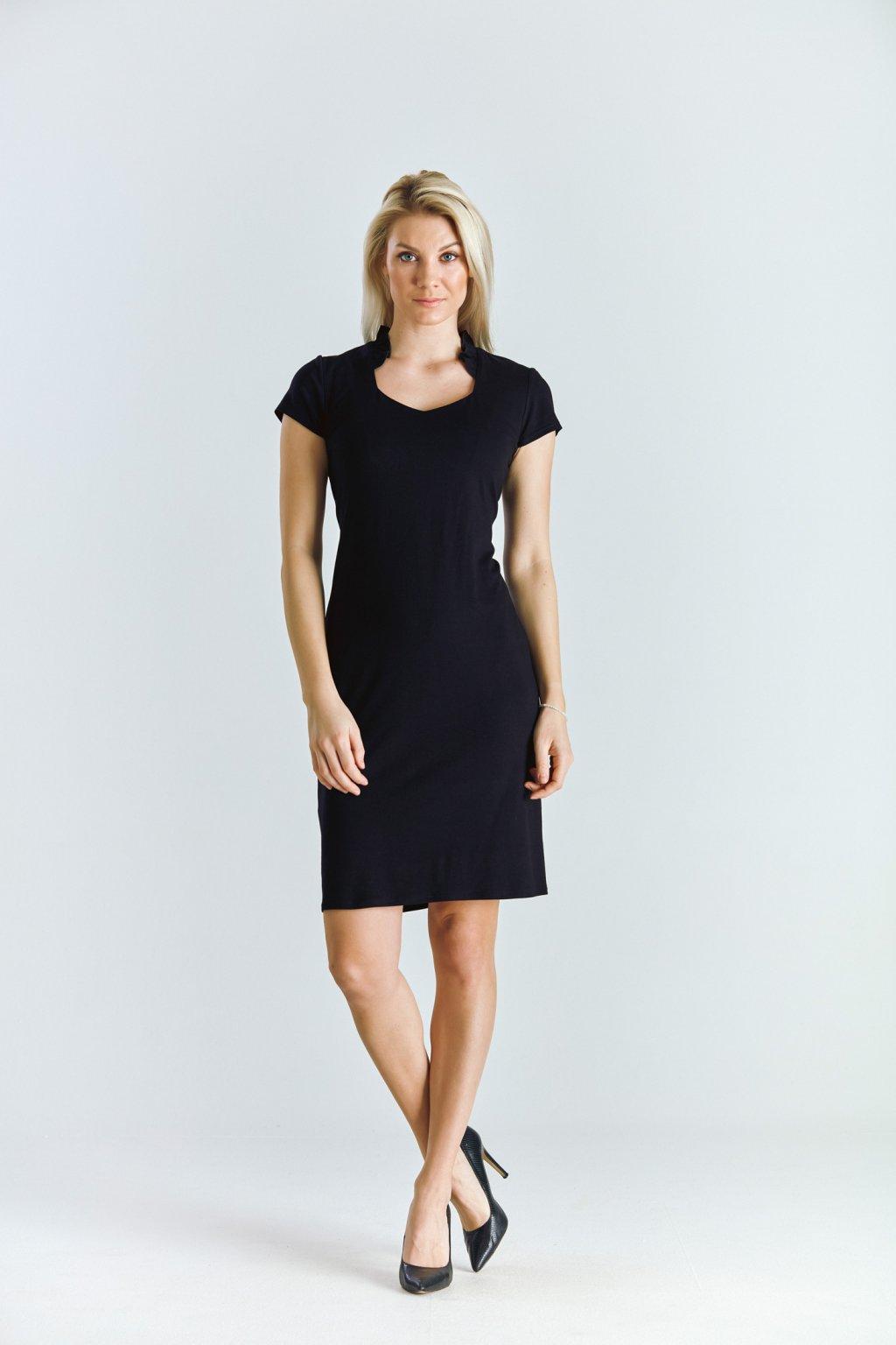 Dámské šaty s volánkem černé