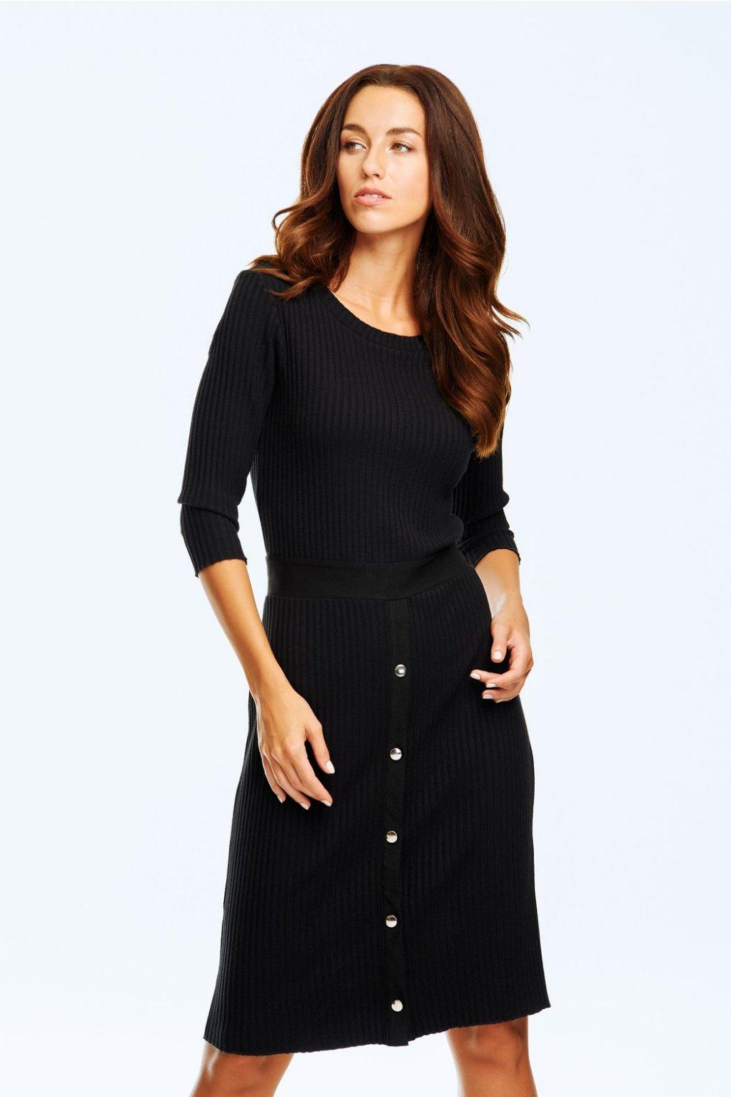 Dámské žebrové šaty s druky