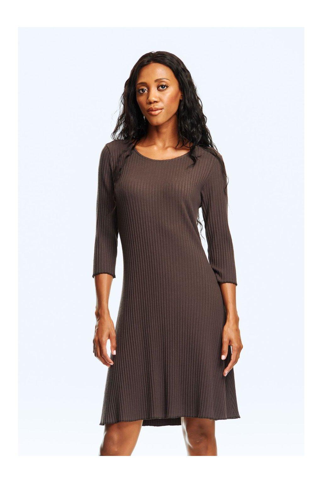 Dámské šaty s áčkovou linií žebro