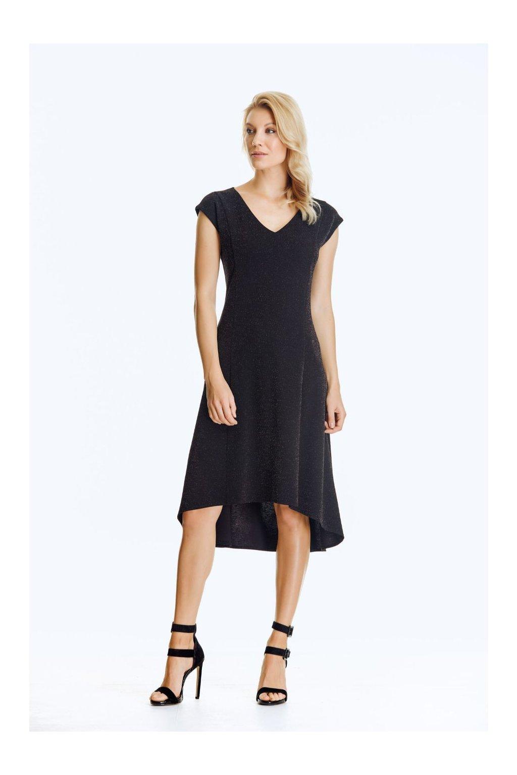 Společenské šaty asymetrické krátké
