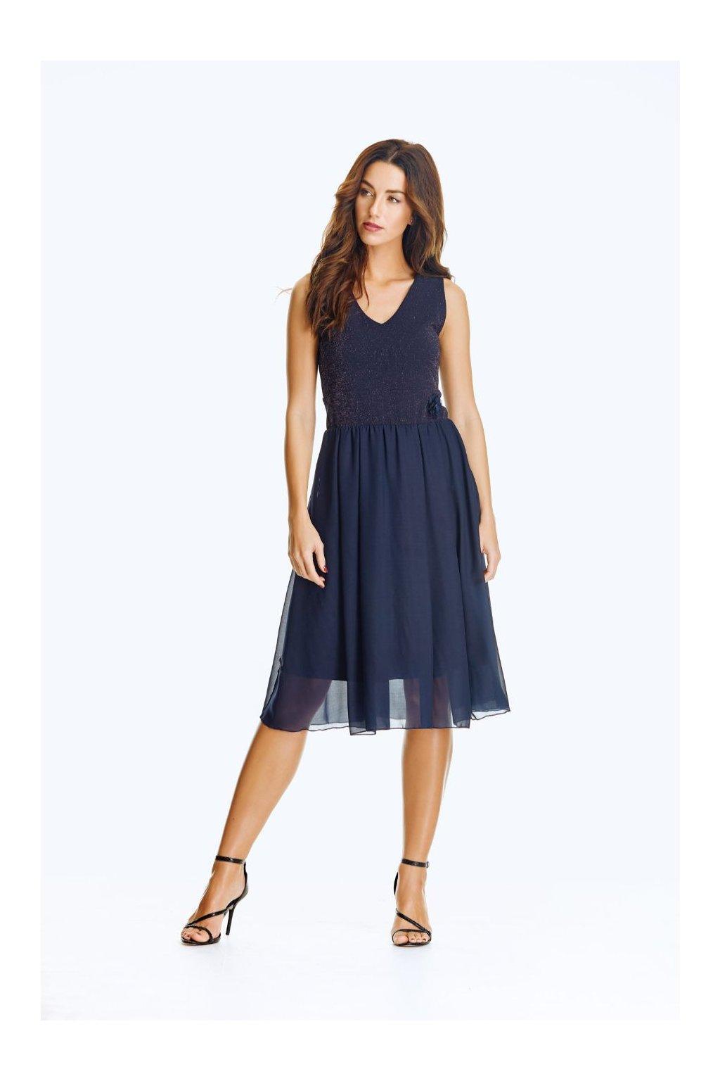 Společenské šaty se šifónem krátké