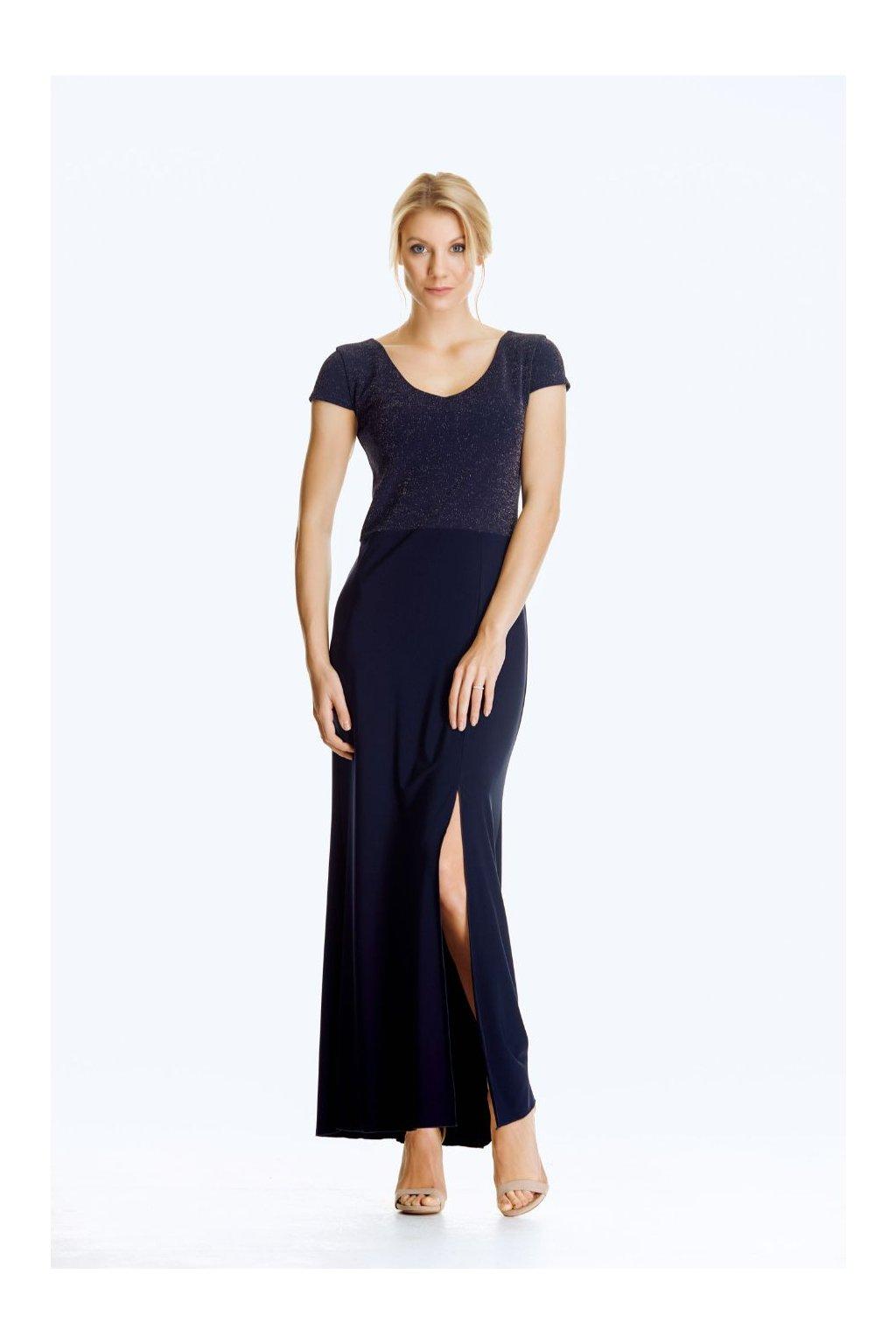 Společenské šaty s rozparkem dlouhé