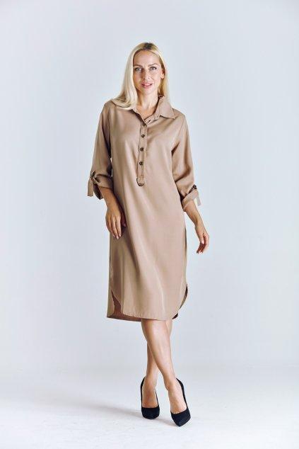 košilové dámské šaty tencel
