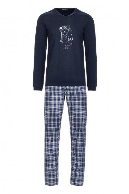 Pánské pyžamo zn. Vamp s potiskem psa