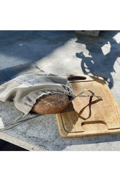 Lněný pytlík na chleba