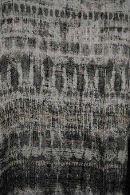 Viskózová tkanina šedozelená