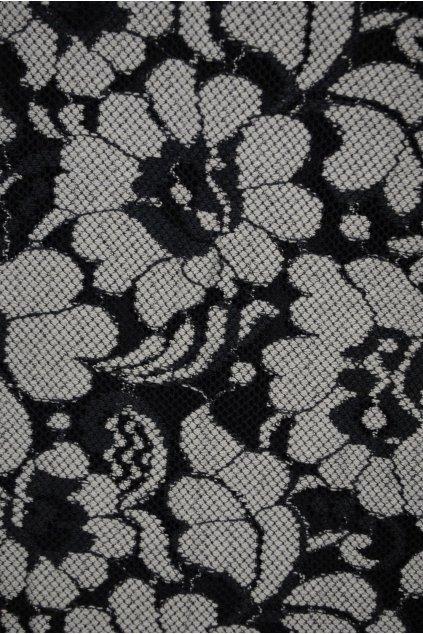Krajka tmavěmodro-bílé květy