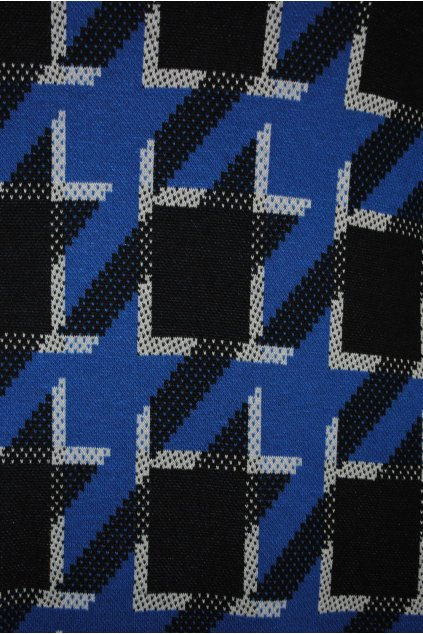 Úplet černo-modro-bílý