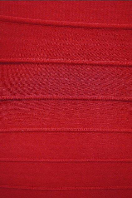 Úplet proužek prošitý červený