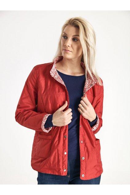 Dámská oboustranná bunda červená