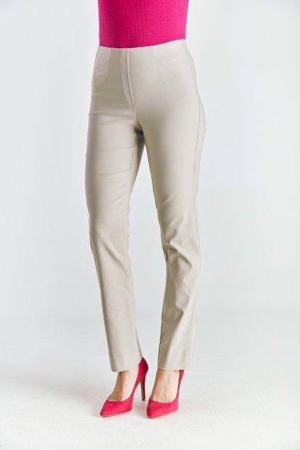 Dámské  kalhoty do gumy béžové