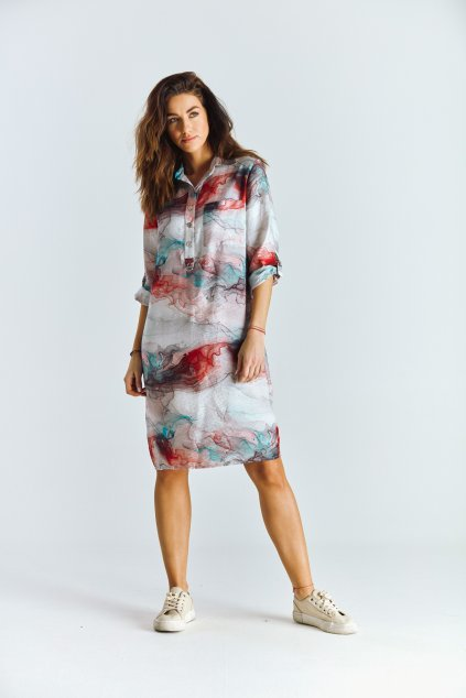 Dámské šaty košilové šaty neo-batika