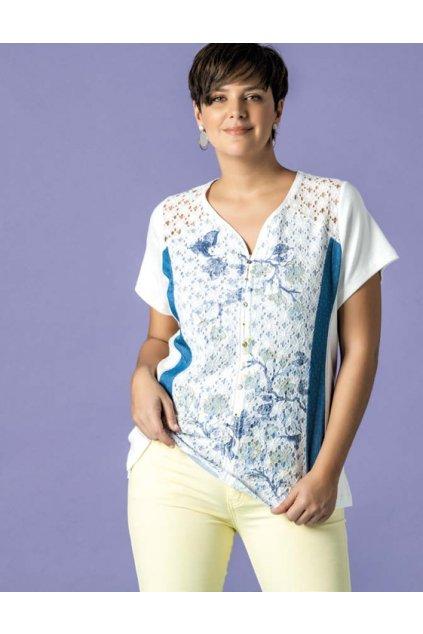 Dámské tričko Bagoraz bílá krajka