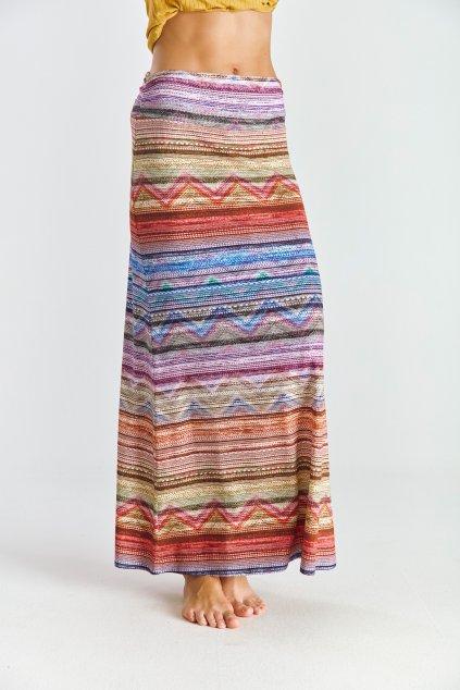 Dámská sukně dlouhá barevný pruh