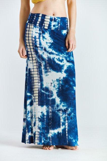 Dámská sukně dlouhá batika modrá