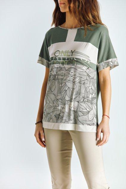 Dámské tričko se sedlem khaki