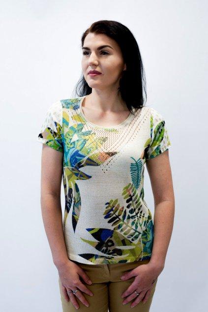 Dámské tričko Kalisson zelené listy