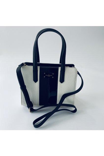 Dámská kabelka Paul's boutique bílá s černými pruhy